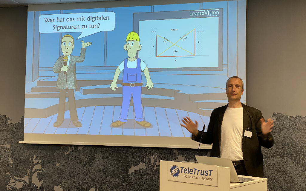 cryptovision employee Klaus Schmeh gives lecture at TeleTrusT Signaturtag