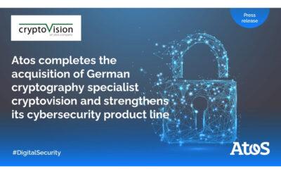 Atos baut sein Cybersecurity-Portfolio aus: Übernahme des deutschen Kryptografie-Spezialisten cryptovision abgeschlossen